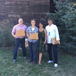 Representative Brian Clem, Speaker of the House Tina Kotek, Michelle Ratcliffe, and Representative Vic Gilliam.